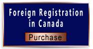 Foreign Registration in Canada