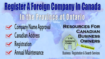 Establish a Foreign Business in Canada (Ontario)