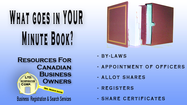 What Goes in a Minute Book Resources for Canadian Business Owners