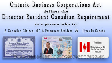 Resident Canadian Requirement for Directors of Ontario Companies