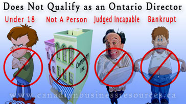 Qualifications for Directors of Ontario Companies