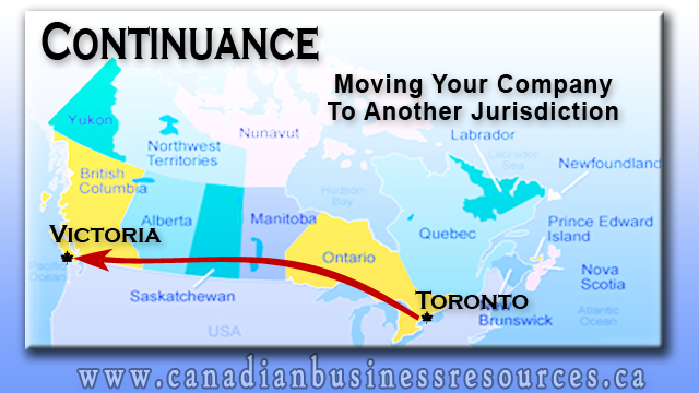 Continuance – Moving Your Company to Another Jurisdiction