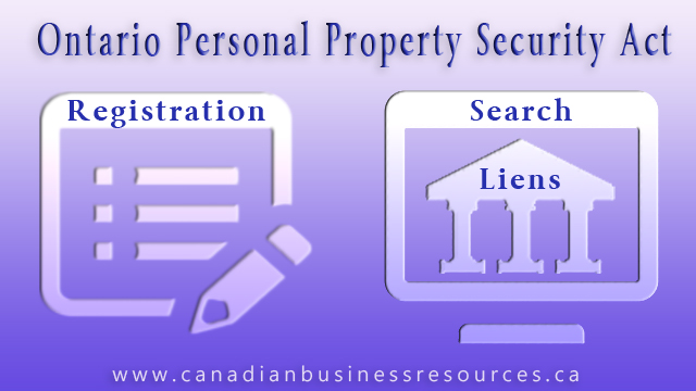 Ontario Personal Property Security Registration & Search